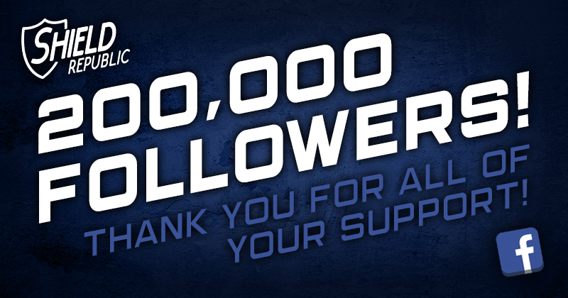 Shield Republic 200,000 facebook followers