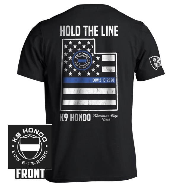 K9 Hondo Shield Republic Hold the line fundraiser fallen officer