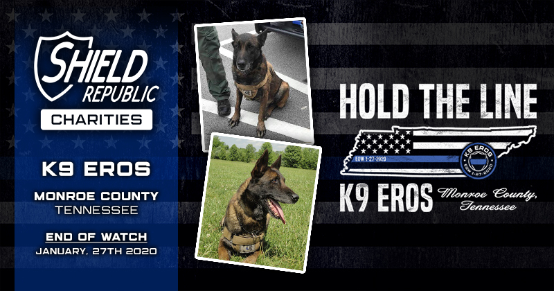 K9 Fallen Officer Hold the line thin blue line fundraiser