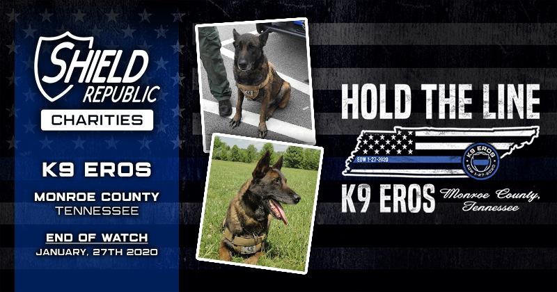 K9 Fallen Officer Hold the line thin blue line fundraiser