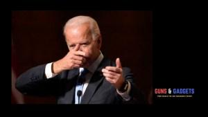 Biden pretending to shoot a gun