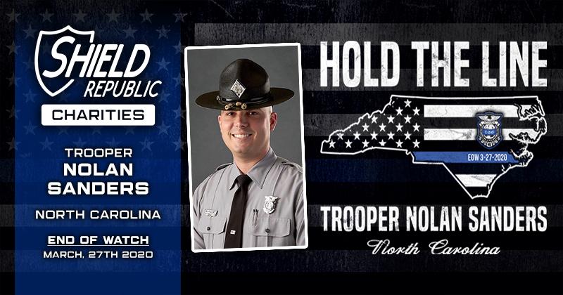 donated in memory of Trooper Nolan Sanders via the North Carolina State Highway Patrol