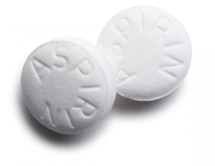 A couple of Aspirin tablets