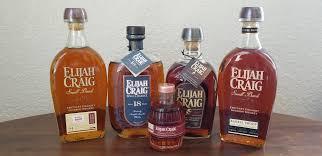 Various Elijah Craig bourbons