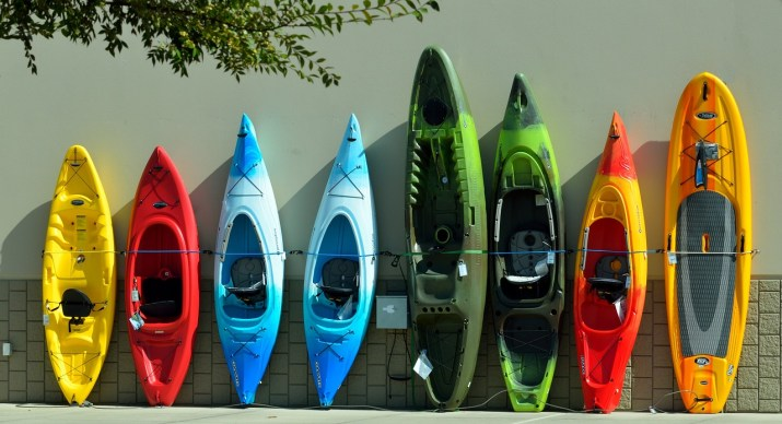 "A ""boat load"" of kayaks"