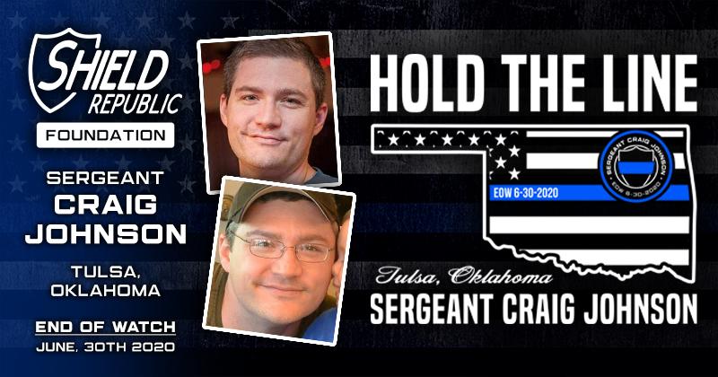 Sergeant Craig Johnson Tulsa Police Department Fundraiser Shield Republic Donation Foundation