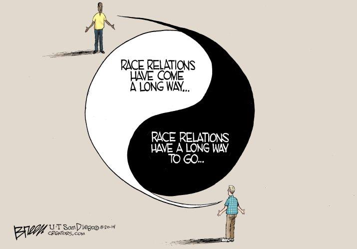 race relation cartoon