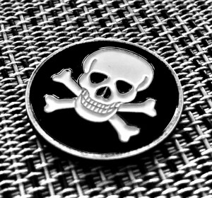 Skull and Crossbones Challenge Coin