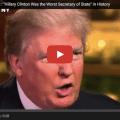 "Trump Calls Hillary ""Worst Secretary Of State In History"""