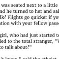 """An Atheist Was Seated Next To A Little Girl On An Airplane And He Turned To Her And Said…"""