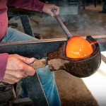Glassblowing at Dollywood.