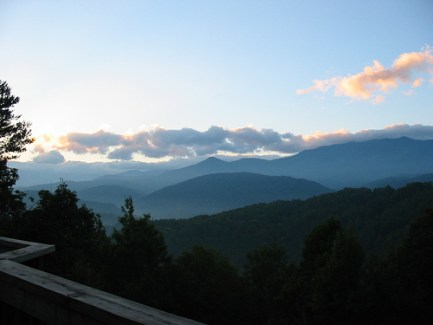 early morning view of the smoky mountains among many things to do in gatlinburg