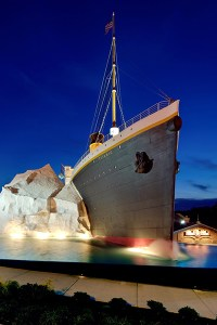 The Titanic Museum Pigeon Forge at night