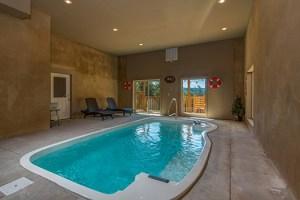 Indoor pool at Canyon Camp Falls