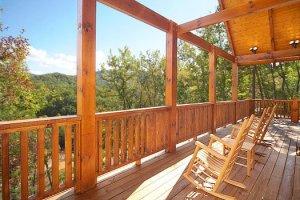 Moonbeams and Cabin Dreams back deck