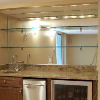 Bar Mirror With Glass Shelves - Patriot Glass and Mirror ...