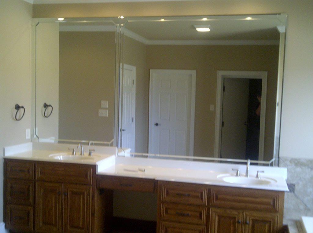 Custom Bathroom Mirror  Patriot Glass and Mirror  San