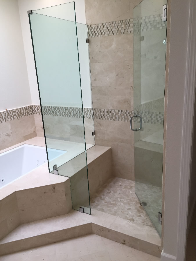 Corner Shower With Tub Cutout Patriot Glass And Mirror