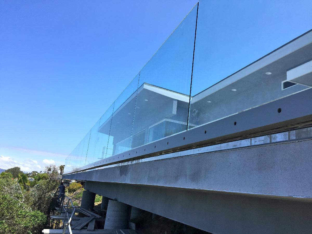 Contemporary Glass Balcony Railing Patriot Glass And
