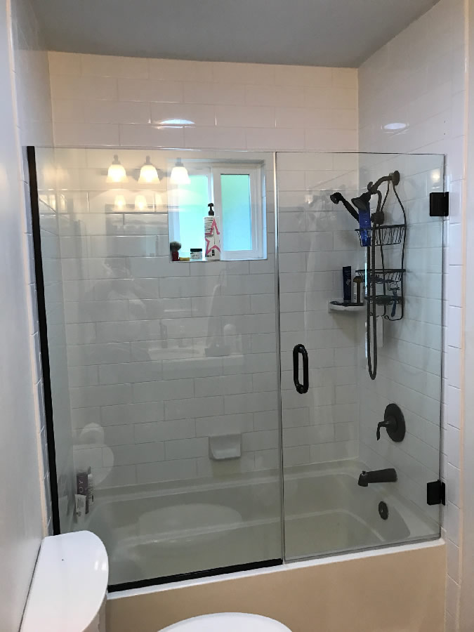 Over Tub Shower Door Patriot Glass And Mirror San Diego CA
