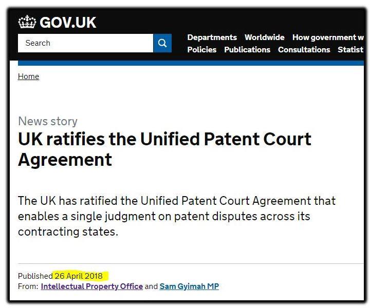 Uk ratifies IPO