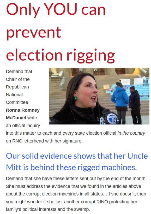 Ronna and election rigging