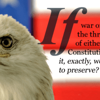 Dear President Obama, If war or terrorism negates the Constitution