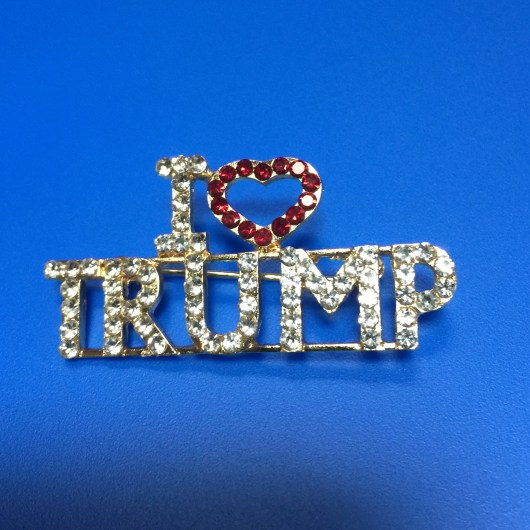 I Love Trump Rhinestone Broach