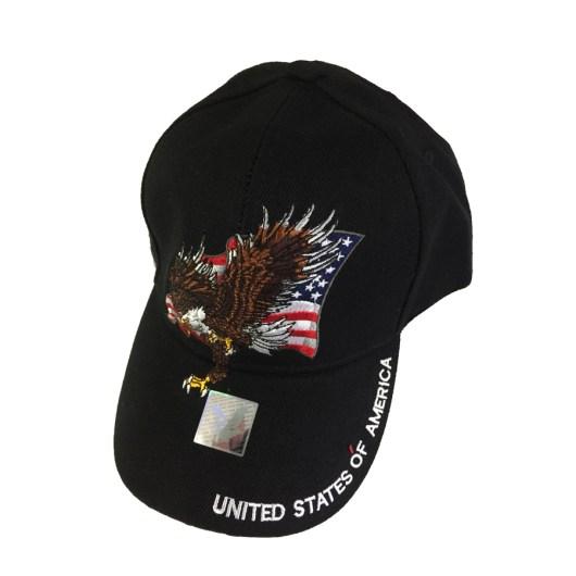 American Eagle Baseball Cap in Black