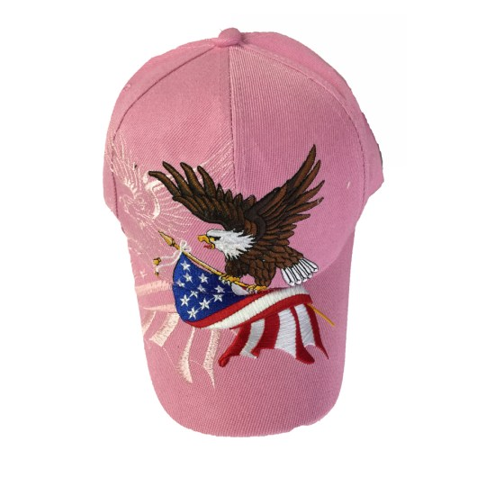 Patriotic Eagle Cap in Pink