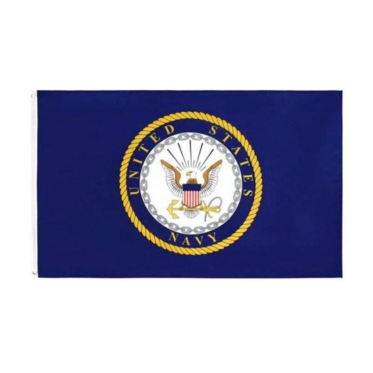 US Navy emblem flag