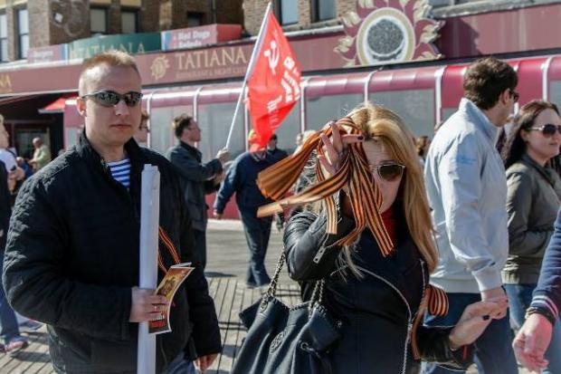 Росіяни у Нью-Йорку. Фото: lastnews.com.ua.