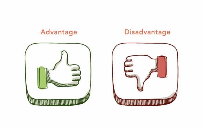Image result for advantage vs disadvantage