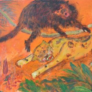 13_The-legend-of-the-mexican-jaguar_28x42cm_Acrylic-and-mixed-media-on-paper_2013