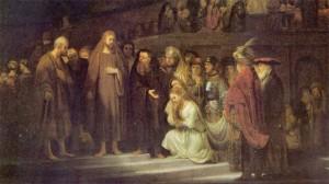 Isus_preljubnica_Rembrandt