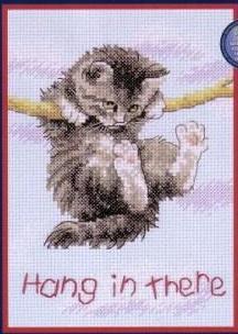 Gráfico de punto de cruz para descargar GRATIS en PDF, imprimir y bordar gatito