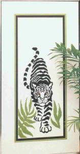 Gráfico de punto de cruz para descargar GRATIS en PDF, imprimir y bordar dibujo con tigre