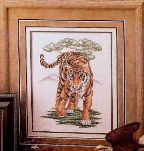 Gráfico de punto de cruz para descargar GRATIS en PDF, imprimir y bordar  tigre