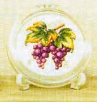 Gráfico de punto de cruz para descargar GRATIS en PDF, imprimir y bordar racimo de uvas