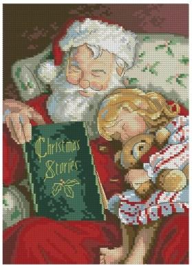 Gráfico de punto de cruz para descargar en PDF, imprimir y bordar dibujo navideño