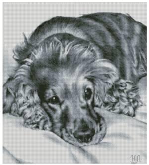 Gráfico de punto de cruz para descargar GRATIS en PDF, imprimir y bordar perro mascota