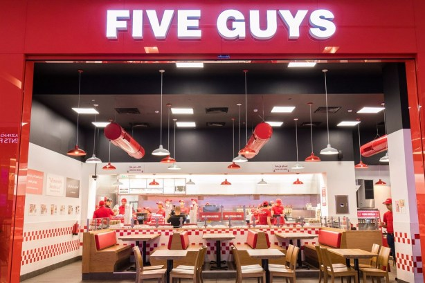 five guys burger & fries restaurant inside