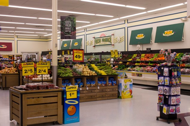 inside the food lion supermarket