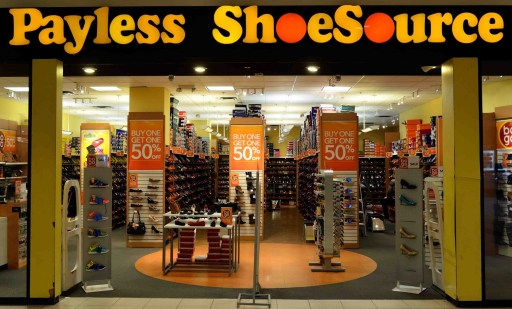 Outlook of payless shoesource store