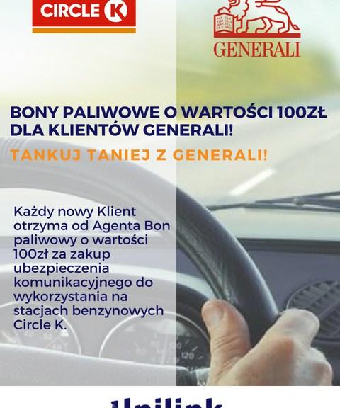 bon 100zł od generali