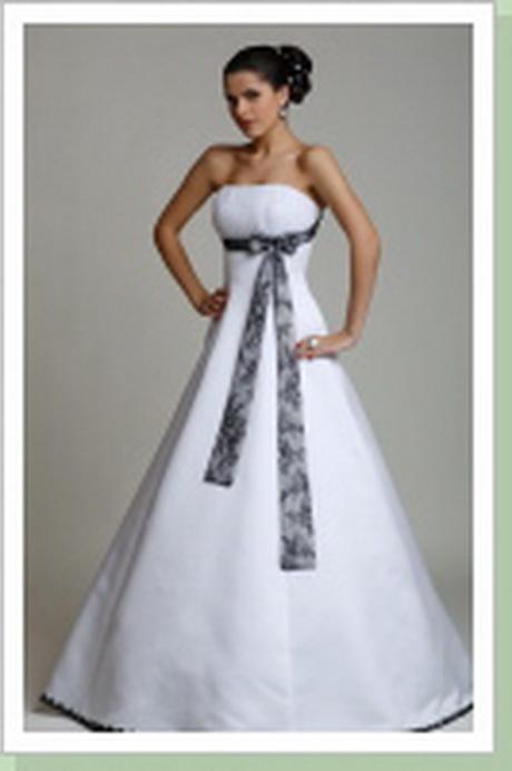 Hochzeitskleid wei schwarz