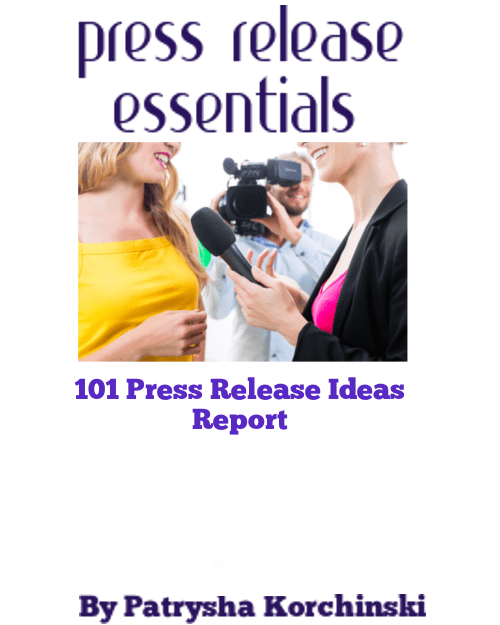 101 Press Release Ideas