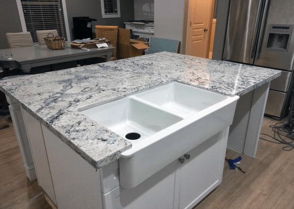 Kitchens with White Ice Granite Countertops