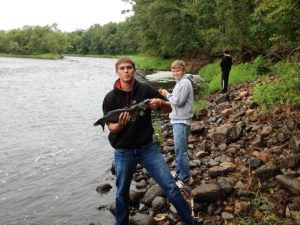 Outdoor recreation, fishing. Walleye fishing near Hinckley MN in St. Croix River and Kettle River. Trout fishing in Grindstone Lake. Bass fishing in Pine and Sturgeon Lake near Hinckley MN