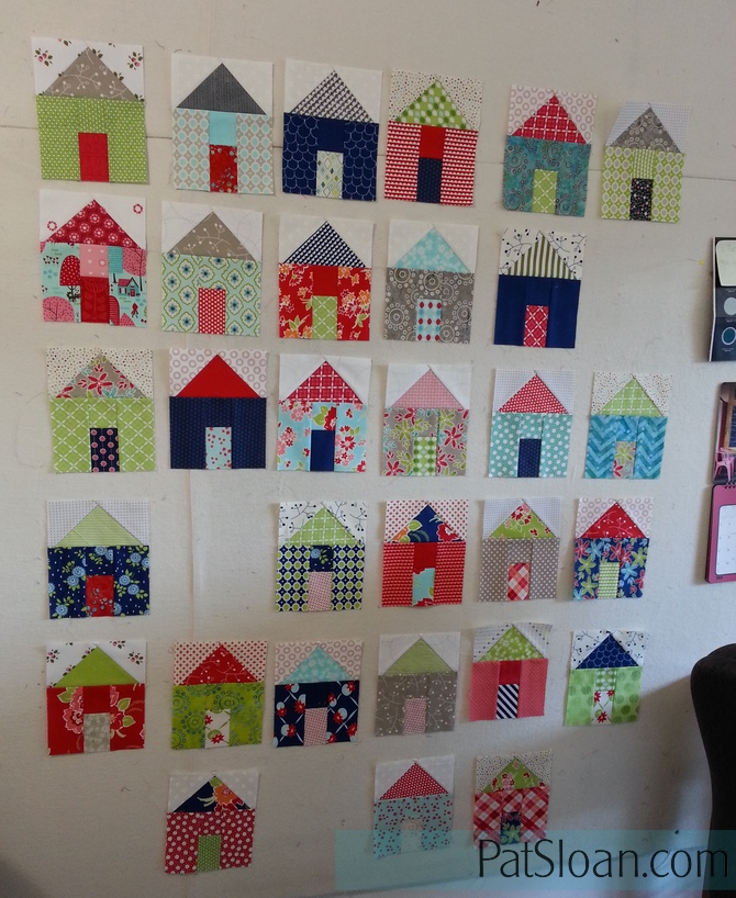 Tiny Houses Quilt Pattern : houses, quilt, pattern, Sloan's, Blog:, 2016/17, Village, Along